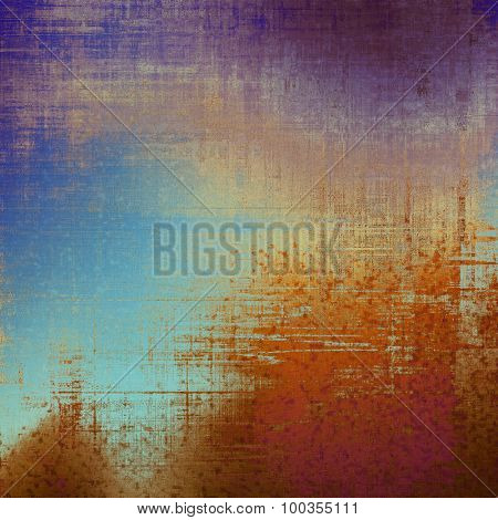 Textured old pattern as background. With different color patterns: yellow (beige); brown; blue; purple (violet)