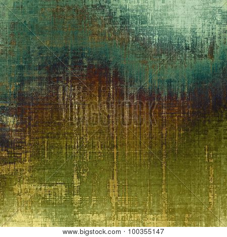 Old ancient texture, may be used as abstract grunge background. With different color patterns: yellow (beige); brown; blue; green