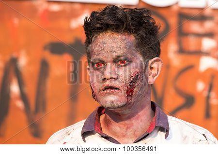 Portrait Of A Zombie. Bangkok, Thailand
