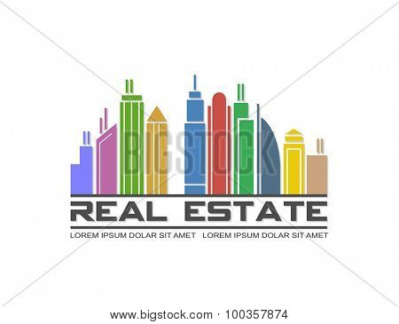 Vector illustration of real estate icon