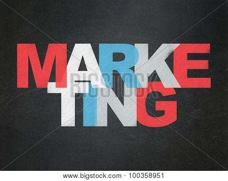 Marketing concept: Marketing on School Board background