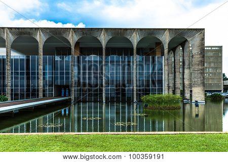BRASILIA, BRAZIL - CIRCA MARCH 2015: Itamaraty Palace in Brasilia, Brazil