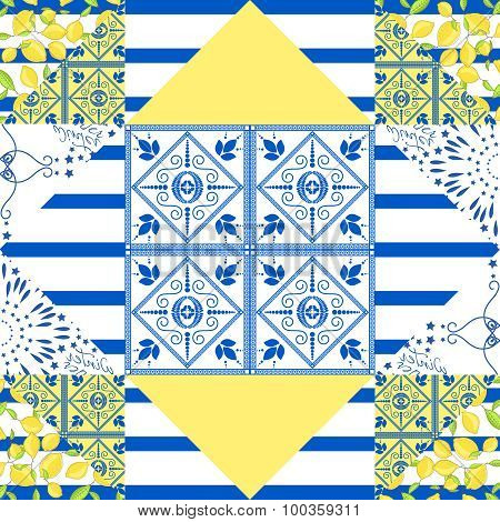 Seamless patchwork pattern. Quilted fabric style.