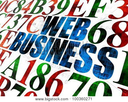 Web development concept: Web Business on Digital background