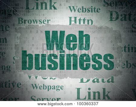 Web development concept: Web Business on Digital Paper background