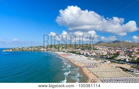 Summer On The Beach Of Gaeta Town, Italy