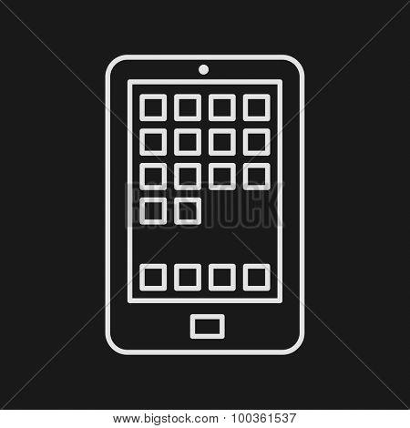 Thin Line Smartphone Web Icon