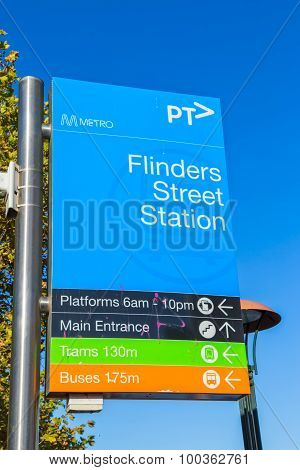 Melbourne city sign