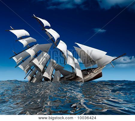 Segelschiff Untergang