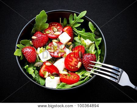 Strawberry Tomato Salad With Feta Cheese