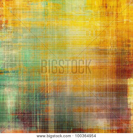 Old abstract texture with grunge stains. With different color patterns: yellow (beige); brown; green; red (orange)