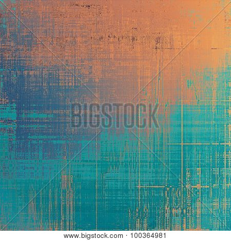 Old abstract grunge background for creative designed textures. With different color patterns: yellow (beige); brown; blue; cyan