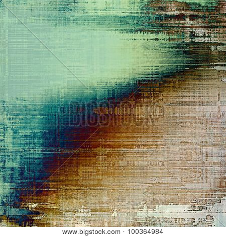 Old grunge antique texture. With different color patterns: yellow (beige); brown; blue; green