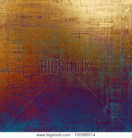 Colorful vintage texture. With different color patterns: brown; blue; red (orange); purple (violet)