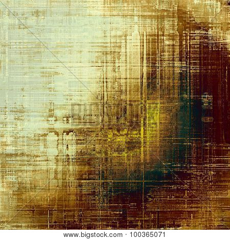 Old antique texture (for background). With different color patterns: yellow (beige); brown; green; gray