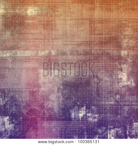 Grunge retro vintage texture, old background. With different color patterns: brown; red (orange); pink; purple (violet)