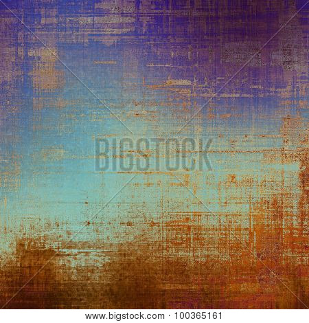 Grunge aging texture, art background. With different color patterns: yellow (beige); brown; blue; purple (violet)