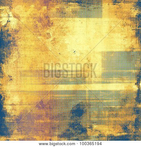 Abstract distressed grunge background. With different color patterns: yellow (beige); brown; blue; purple (violet)