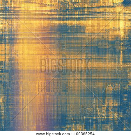 Colorful designed grunge background. With different color patterns: yellow (beige); brown; blue; pink