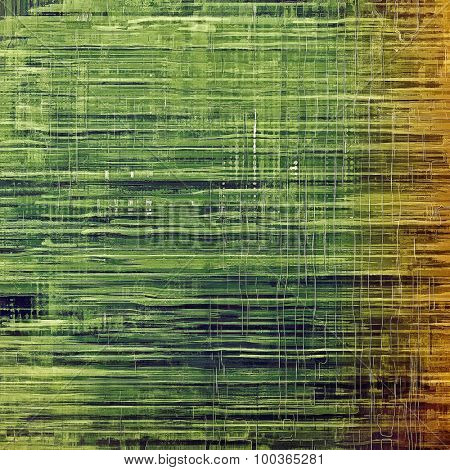 Designed grunge texture or retro background. With different color patterns: yellow (beige); brown; green; gray
