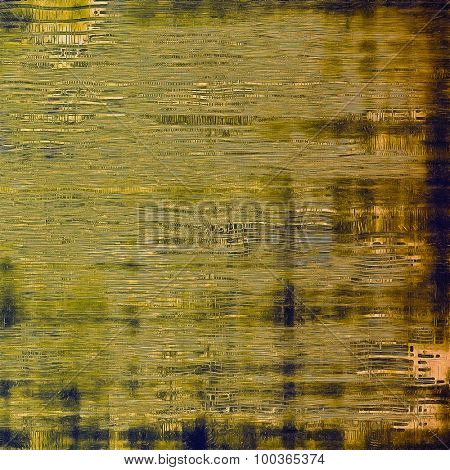 Textured old pattern as background. With different color patterns: yellow (beige); brown; blue; green