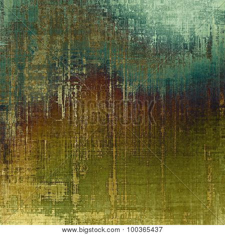 Old Texture or Background. With different color patterns: yellow (beige); brown; blue; green