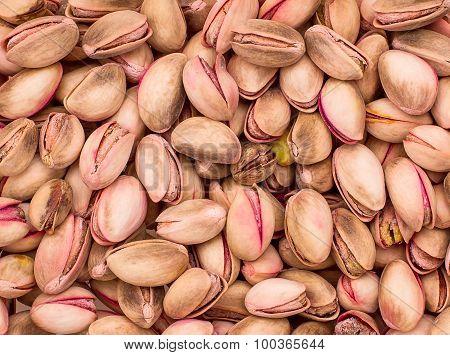 Cretan Pink Pistachios As Background