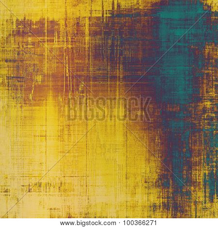 Aging grunge texture, old illustration. With different color patterns: yellow (beige); brown; blue; purple (violet)