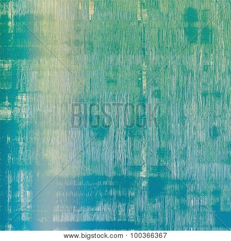 Old antique texture or background. With different color patterns: yellow (beige); blue; cyan; green