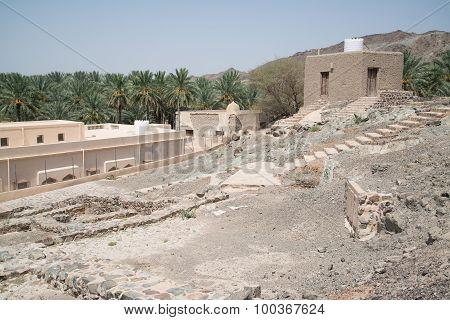 Oman buildings in desert