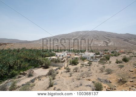 Oman desert land