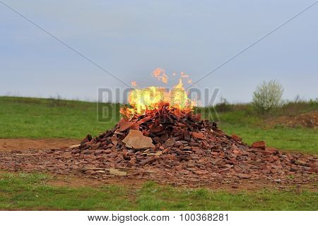 Combustion Gas In The Nature