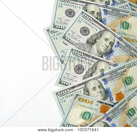 Dollars Currency Isolated, Place For Your Text