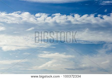 Blue Sky Background With Cloud .