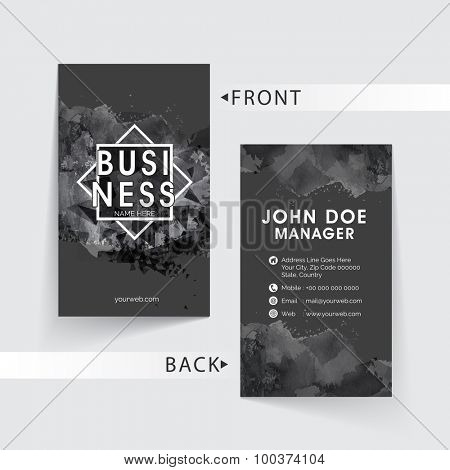 Abstract creative business card set for Design Studio with two sided presentation.