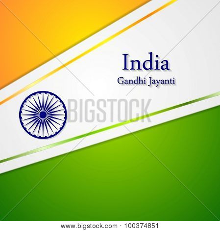 Corporate bright abstract background. Indian colors. Vector art design