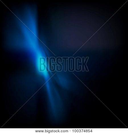 Dark blue gradient wavy abstraction. Vector background