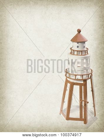 Vintage photo of lighthouse tower of Candlestick
