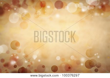 Circles on brown abstract background