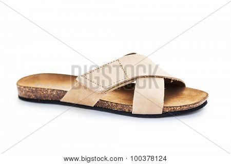 Sandals woman isolated on a white background