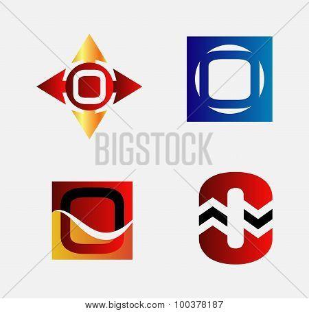 Alphabetical Logo Design Concepts. Letter O set