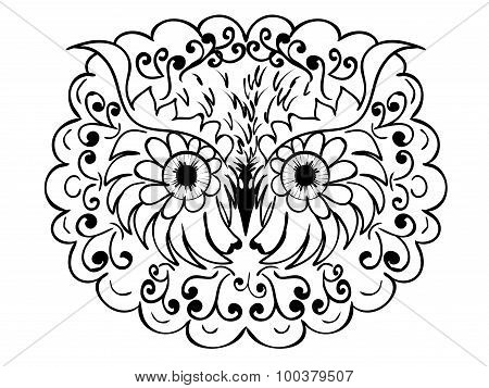 Ornamental Owl Head