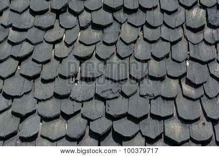 The Tile Black Wood Of Roof