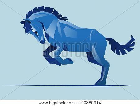 Blue Horse, Vector
