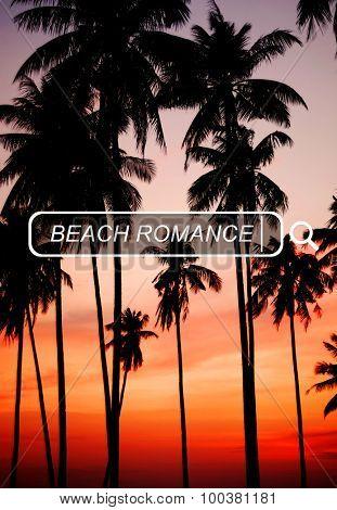 Beach Romance Leisure Summer Vacation Holiday Concept
