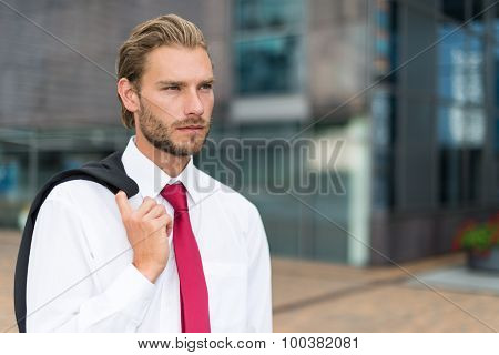 Portrait of a businessman in a business environment