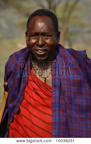 Portrait Elderly Maasai.