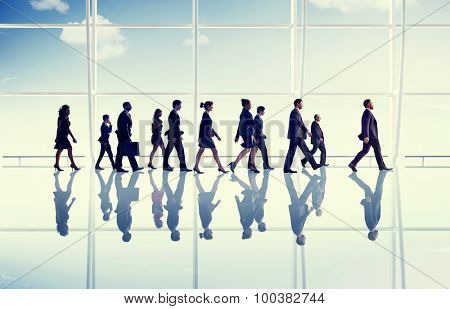 Business People Walking Office Concept