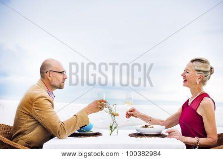 Romantic Date Toast Celebration Party Concept