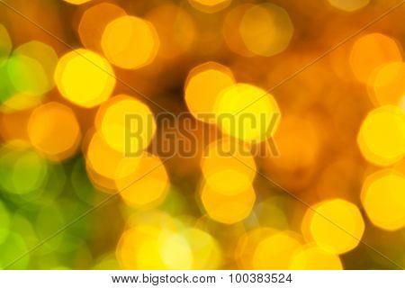 Dark Yellow And Green Shimmering Christmas Lights